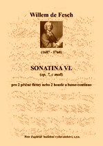 Title - Fesch Willem de (1687 - 1760) - Sonatina VI. (op. 7, C minor)