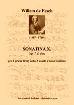 Title - Fesch Willem de (1687 - 1760) - Sonatina X. (op. 7, D major)