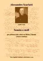 Title - Scarlatti Alessandro (1659 - 1725) - Sonata in A minor