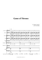 Náhled not [1] - Djawadi Ramin (*1974) - Game of Thrones (arr. Petr Kobza)